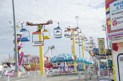 Midway ride at Oklahoma State Fair Royalty Free Stock Image