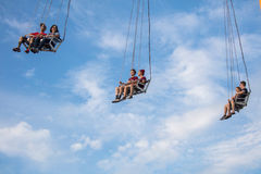 Midway Swings Stock Photography