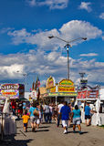 Midway at the 16th Annual Salem Fair. Salem, VA – June 29th: Food stands and merchants line the midway selling food and merchandise at the 16th annual royalty free stock images