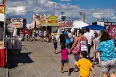 Midway at the 16th Annual Salem Fair. Salem, VA – June 29th: Food stands and merchants line the midway selling food and merchandise at the 16th annual royalty free stock image