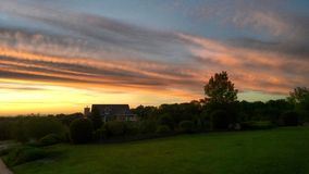 Midwest ηλιοβασίλεμα στοκ φωτογραφίες με δικαίωμα ελεύθερης χρήσης
