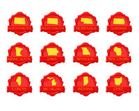 midwest κερί γραμματοσήμων Στοκ εικόνα με δικαίωμα ελεύθερης χρήσης