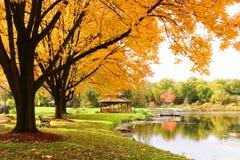 Midwest υπόβαθρο φύσης με την άποψη πάρκων στοκ εικόνες
