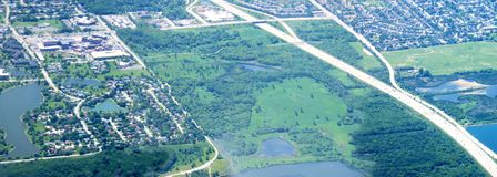 Midwest aerial Stock Image