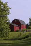 Midwest American Barn. Midwest American red Barn in Tecumseh MI, Lenawee County on summer day royalty free stock images