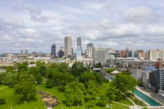 The Midwest City Of Indianapolis Indiana On A Summers Day royalty free stock images