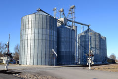 Midwest Grain Elevator Stock Image