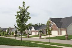 Midwest Homes. A neighborhood in the mid-west Stock Photography