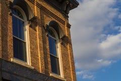 Midwest storefront παράθυρα στοκ εικόνες