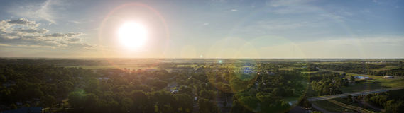 Midwest Surise panoramico Fotografia Stock