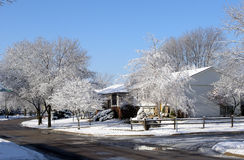 Midwest Winter Scene. Snow and Ice Royalty Free Stock Photos