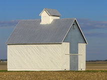 Midwestern Shed. Lone shed among the stubble of a Midwestern farm royalty free stock photography