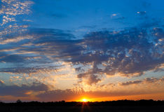 Midwestern Sunset Sky Royalty Free Stock Photography