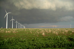 Midwestern Windfarm Royalty Free Stock Photography