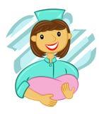 midwife ilustração stock
