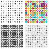 100 midwife icons set vector variant. 100 midwife icons set vector in 4 variant for any web design isolated on white Stock Photos
