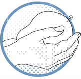 Midwifery - Helping Hands Royalty Free Stock Photo