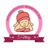 Midwives Day. Illustration of a Background for International Midwives Day stock illustration