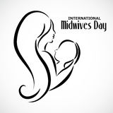 Midwives Day. Illustration of a Background for International Midwives Day royalty free illustration
