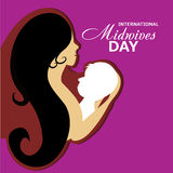 Midwives Day. Illustration of a Mother and baby for International Midwives Day stock illustration