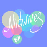 Midwives day 5 may. Vector illustration for International Midwives day greeting cards. Royalty Free Stock Image