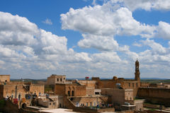 Midyat, turkey. View of the town of midyat, turkey stock image