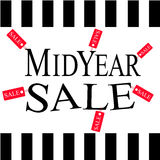 Midyear sale discount vector Royalty Free Stock Images