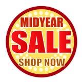 Midyearförsäljningen shoppar nu cirkeln Royaltyfri Bild