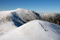Midzhur oder Midzor ist eine Spitze in den Balkan-Bergen, aufgestellt auf der Grenze zwischen Bulgarien und Serbien lizenzfreies stockfoto