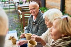 Mieć Dobrego czas z Starszymi przyjaciółmi fotografia royalty free
