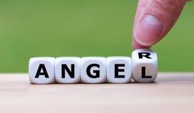 Mieć złość lub być aniołem? zdjęcie stock
