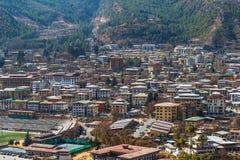 Mieścący w Thimphu mieście, Bhutan zdjęcia stock