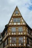 Mieści drewnianego kolor żółtego Fotografia Stock