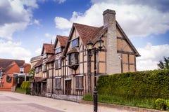 Mieści miejsce narodzin dokąd dramatopisarz William Shakespeare i poeta byliśmy urodzeni zdjęcie stock