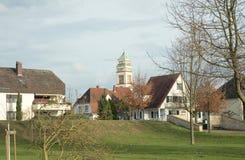 Mieści Rzecznego Rhine Kehl, Niemcy (,) Obraz Royalty Free