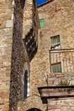 mieści włoską średniowieczną starą wioskę Zdjęcie Stock