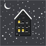 Mieści zimy ikonę ilustracji