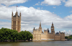 mieści London parlamentu Obrazy Royalty Free