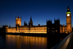 mieści London parlamentu Fotografia Royalty Free