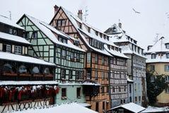 mieści Strasbourg zima Fotografia Royalty Free