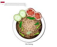 Mie Goreng or Traditional Indonesian Fried Noodles Stock Images
