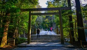 Ise Jingu Complex in Mie, Japan royalty free stock photo
