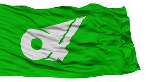 Mie Japan Prefecture Flag aislada Imágenes de archivo libres de regalías