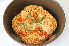Mie noodles with spices Stock Image