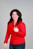 śmiech czerwony Zdjęcia Stock