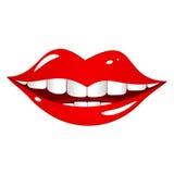 śmiechu usta Obrazy Royalty Free