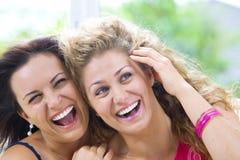 śmiechy dwa Zdjęcia Royalty Free