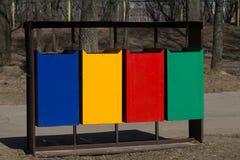 Śmieci w parku Fotografia Stock