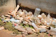 Śmieci w rzece Zdjęcie Royalty Free
