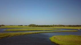 Miedo Coastal Marsh Tidelands del cabo metrajes